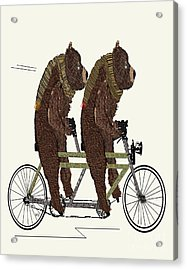 Acrylic Print featuring the painting Grizzly Bears Lets Tandem by Bri B