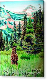 Grizzly Country Acrylic Print by Tracy Rose Moyers