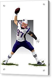 Gronk Acrylic Print by Scott Weigner