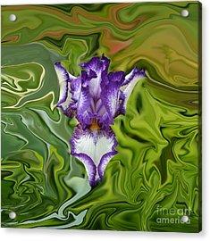 Groovy Purple Iris Acrylic Print