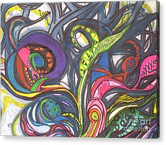 Acrylic Print featuring the painting Groovy Series by Chrisann Ellis