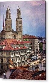 Grossmunster In Zurich Acrylic Print
