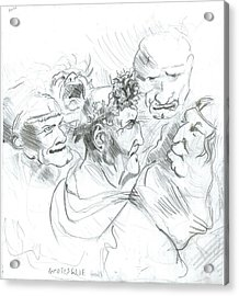 Grotesque Heads Acrylic Print by Joseph  Arico