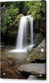 Grotto Falls Vertical Acrylic Print