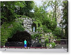 Grotto Of Our Lady Of Lourdes Acrylic Print