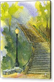 Grotto Stairs Acrylic Print by John Meng-Frecker