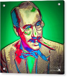 Groucho Marx 20151218 Square Acrylic Print by Wingsdomain Art and Photography