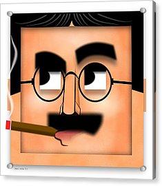 Groucho Marx Blockhead Acrylic Print by John Wills