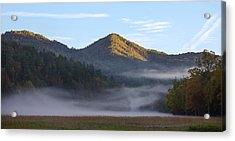 Acrylic Print featuring the photograph Ground Fog In Cataloochee Valley - October 12 2016 by D K Wall