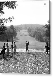 Group Of Golfers Teeing Off, C.1920-30s Acrylic Print