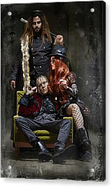 Group Of Male And Female In Steampunk Theme Acrylic Print