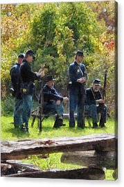 Group Of Union Soldiers Acrylic Print by Susan Savad