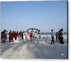 Group Wedding Photo Africa Beach Acrylic Print