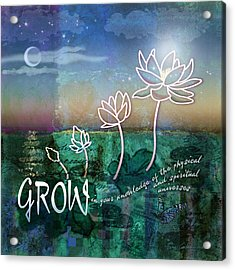Grow Acrylic Print by Evie Cook