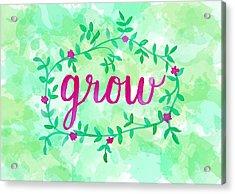 Grow Watercolor Acrylic Print
