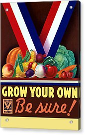Grow Your Own Victory Garden Acrylic Print by War Is Hell Store