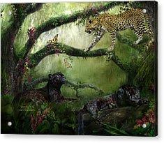 Growing Wild Acrylic Print by Carol Cavalaris