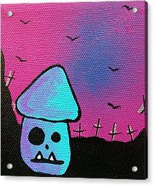 Gruff Zombie Mushroom Acrylic Print by Jera Sky