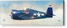 Grumman F6f-5 Hellcat Acrylic Print