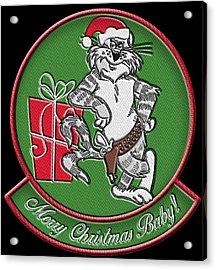 Grumman Merry Christmas Acrylic Print