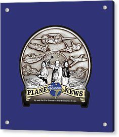 Grumman Plane News Acrylic Print