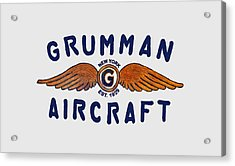 Grumman Wings Blue Acrylic Print
