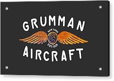 Grumman Wings Gold Acrylic Print