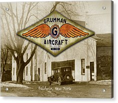 Grumman Wings Acrylic Print