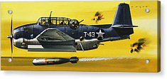 Grummen Tbf1 Avenger Bomber Acrylic Print by Wilf Hardy