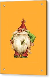 Grumpy Gnome Acrylic Print