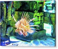 Grumpy Old Fish - Digital Art Acrylic Print