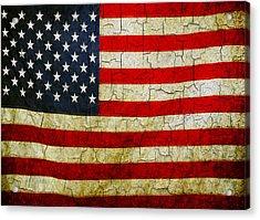 Grunge American Flag  Acrylic Print