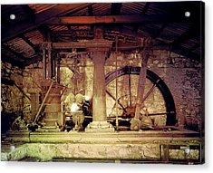 Acrylic Print featuring the photograph Grunge Cane Mill by Robert G Kernodle