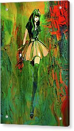 Acrylic Print featuring the digital art Grunge Doll by Greg Sharpe
