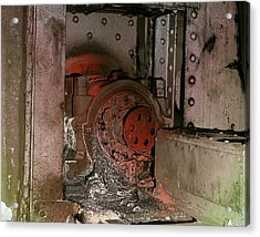 Acrylic Print featuring the photograph Grunge Gear Motor by Robert G Kernodle