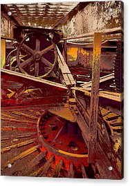 Acrylic Print featuring the photograph Grunge Gears by Robert Kernodle