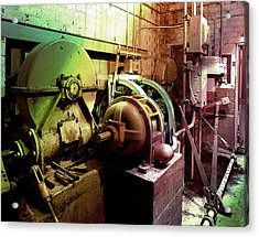 Acrylic Print featuring the photograph Grunge Hydroelectric Plant by Robert G Kernodle