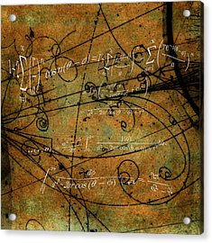 Acrylic Print featuring the photograph Grunge Math Equations by Robert G Kernodle