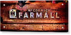 Grunge Mccormick Farmall  Acrylic Print by Olivier Le Queinec