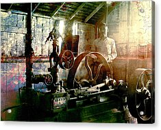 Acrylic Print featuring the photograph Grunge Meyer Mill by Robert G Kernodle