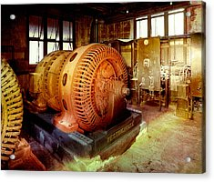 Acrylic Print featuring the photograph Grunge Motor Generator by Robert G Kernodle