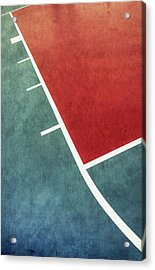 Acrylic Print featuring the photograph Grunge On The Basketball Court by Gary Slawsky