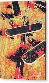 Grunge Skate Art Acrylic Print by Jorgo Photography - Wall Art Gallery