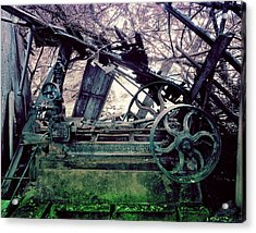 Acrylic Print featuring the photograph Grunge Steam Engine by Robert G Kernodle