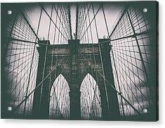 Grungey Brooklyn Bridge Acrylic Print