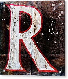 Grungy Letter R Acrylic Print