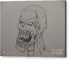 Grunt Acrylic Print by John Prestipino