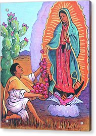 Guadalupe And Juan Diego Acrylic Print
