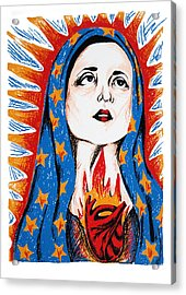 Guadalupe Acrylic Print by DeAnn Acton