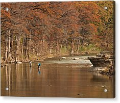 Guadalupe River Fly Fishing Acrylic Print